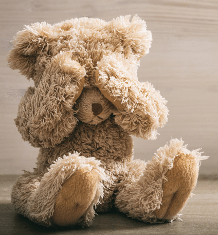 Bamse holder sig for øjnene - skilsmisse rådgivning