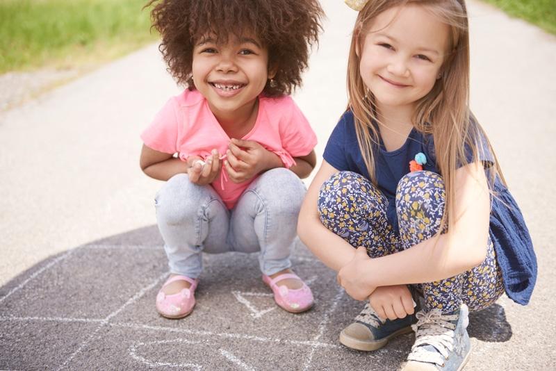 Børn der leger - børnesamtaler